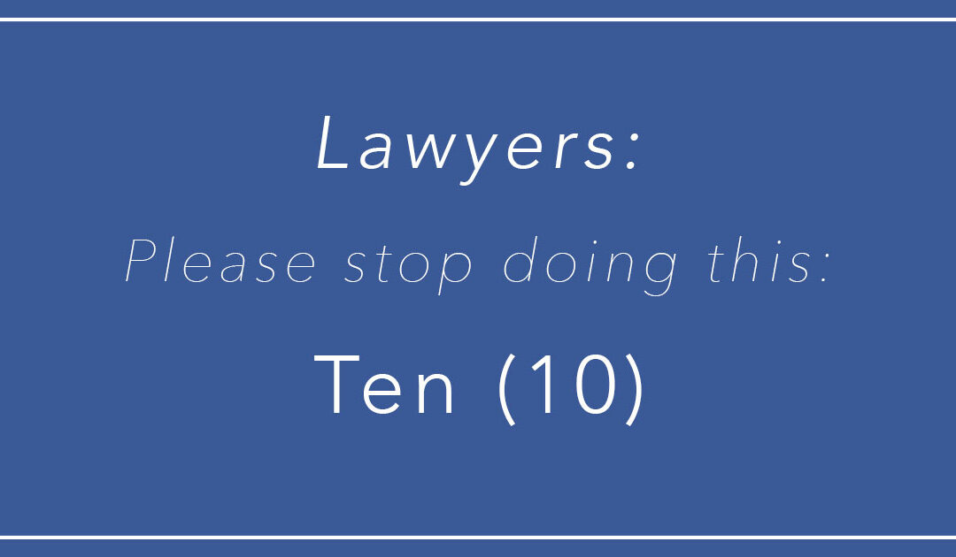 Fellow Lawyers, Please Stop Writing Numbers Twice!
